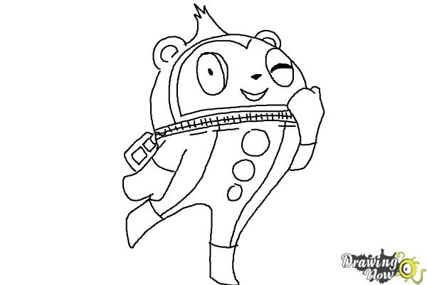 How to Draw Teddie from Persona 4 - Step 9