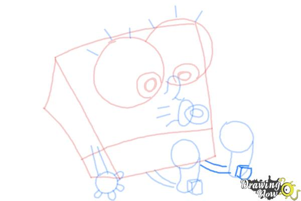 How to Draw Baby Spongebob Squarepants - Step 10