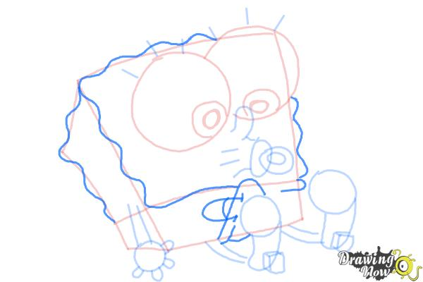 How to Draw Baby Spongebob Squarepants - Step 11