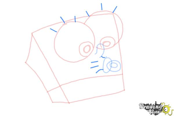How to Draw Baby Spongebob Squarepants - Step 7