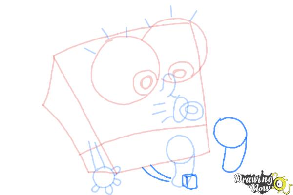 How to Draw Baby Spongebob Squarepants - Step 9