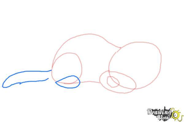 How to Draw a Sleeping Dog - Step 4