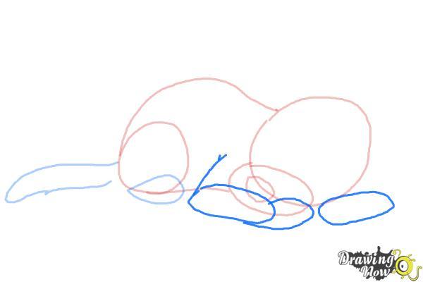 How to Draw a Sleeping Dog - Step 5