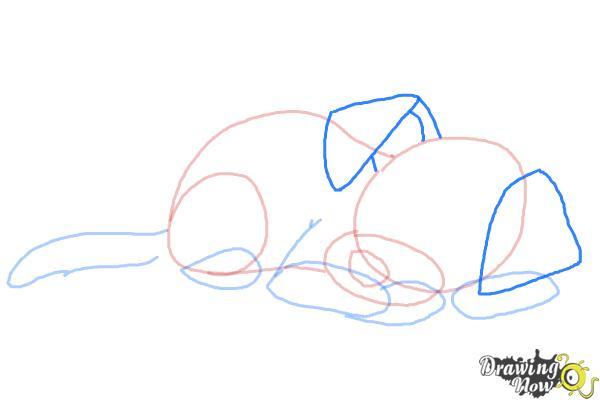 How to Draw a Sleeping Dog - Step 6