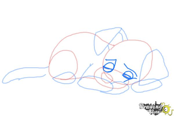 How to Draw a Sleeping Dog - Step 7