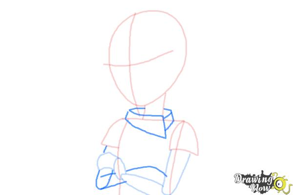 How to Draw Vice Principal Luna from Equestria Girls - Step 6