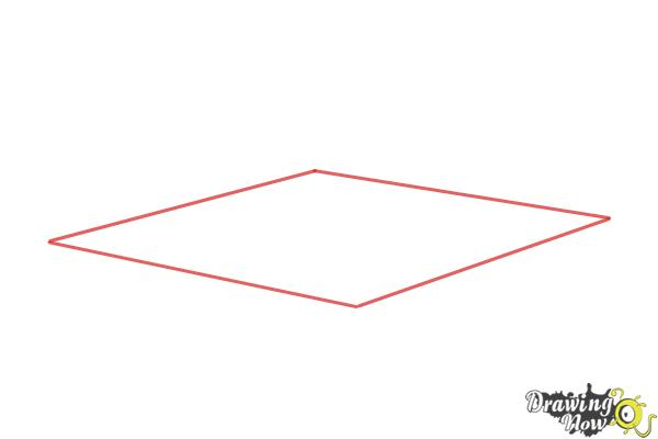 How to Draw a Wrestling Ring - Step 1