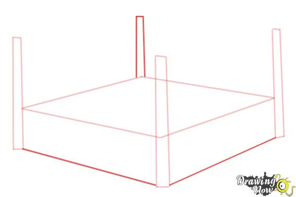 How to Draw a Wrestling Ring - Step 3