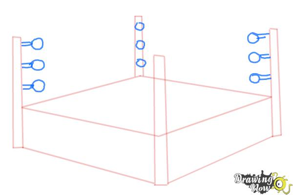 How to Draw a Wrestling Ring - Step 4