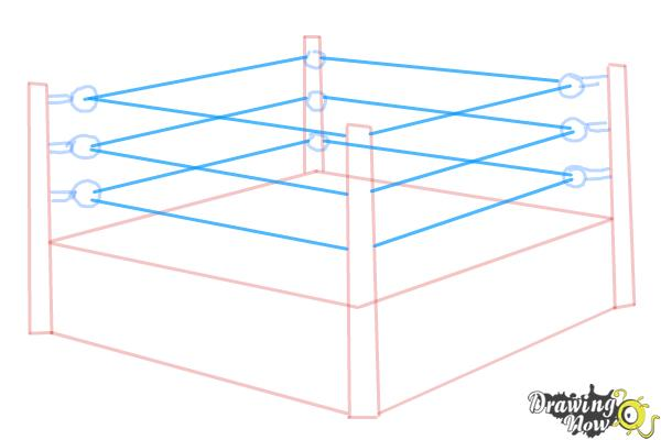 How to Draw a Wrestling Ring - Step 5