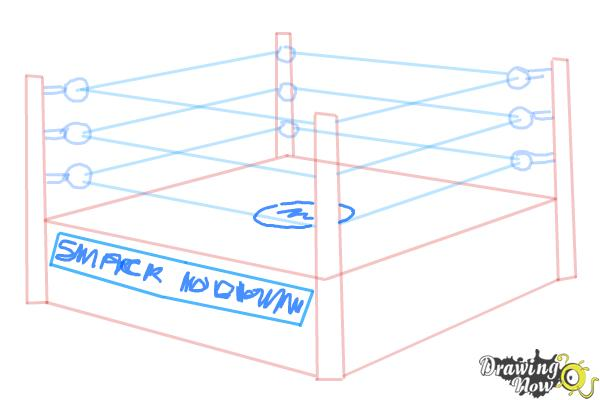 How to Draw a Wrestling Ring - Step 6