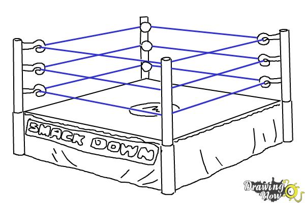 How to Draw a Wrestling Ring - Step 7