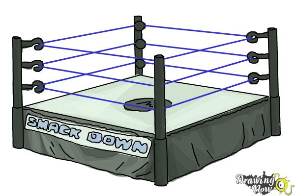 How to Draw a Wrestling Ring - Step 8