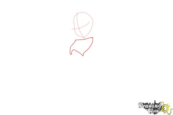 How to Draw Dark Bloom from Winx - Step 2