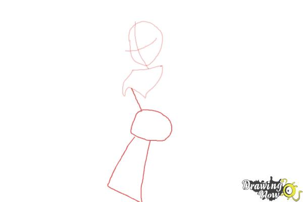 How to Draw Dark Bloom from Winx - Step 3