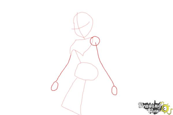 How to Draw Dark Bloom from Winx - Step 4