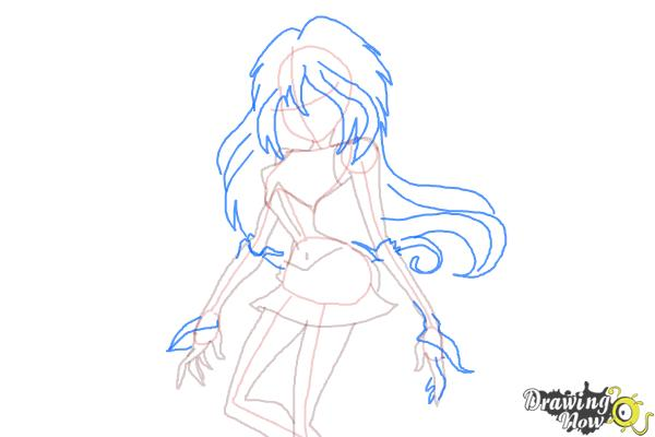How to Draw Dark Bloom from Winx - Step 7