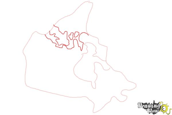How to Draw Canada - Step 3