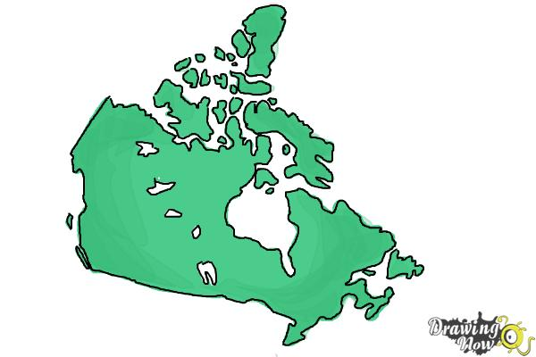 How to Draw Canada - Step 7