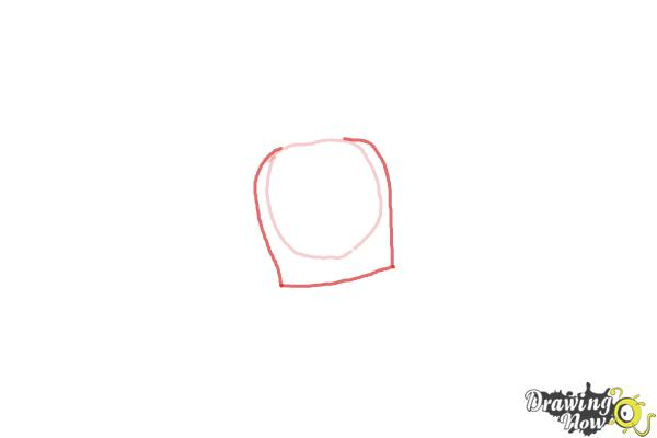 How to Draw Sir Kirby from Doc Mcstuffins - Step 2