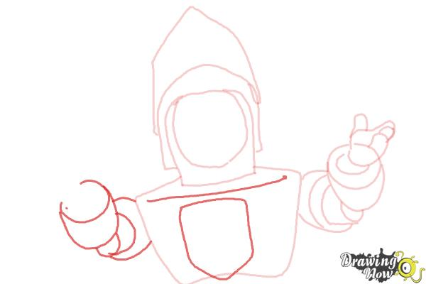 How to Draw Sir Kirby from Doc Mcstuffins - Step 6
