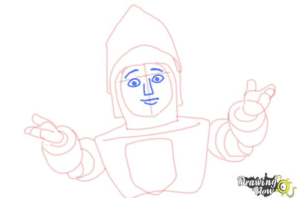How to Draw Sir Kirby from Doc Mcstuffins - Step 8