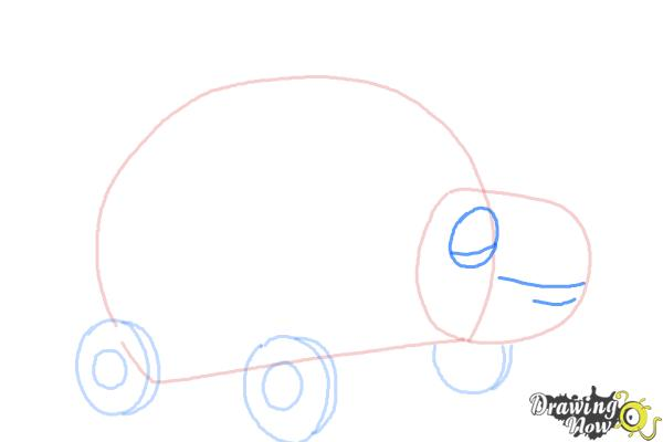 How to Draw Xyla from Doc Mcstuffins - Step 4