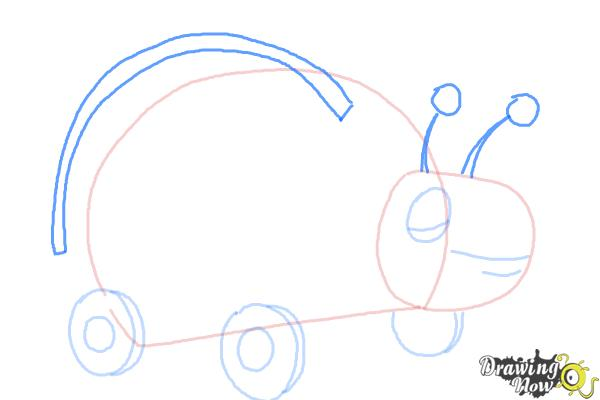 How to Draw Xyla from Doc Mcstuffins - Step 5