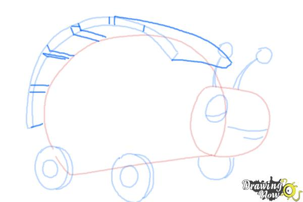 How to Draw Xyla from Doc Mcstuffins - Step 6