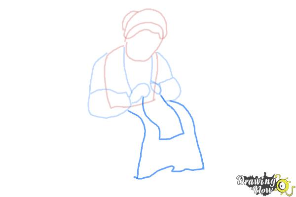 How to Draw a Grandmother - Step 6