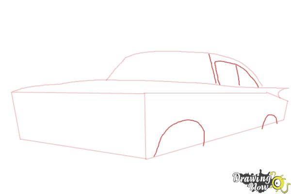 How to Draw a Chevrolet Impala - Step 3