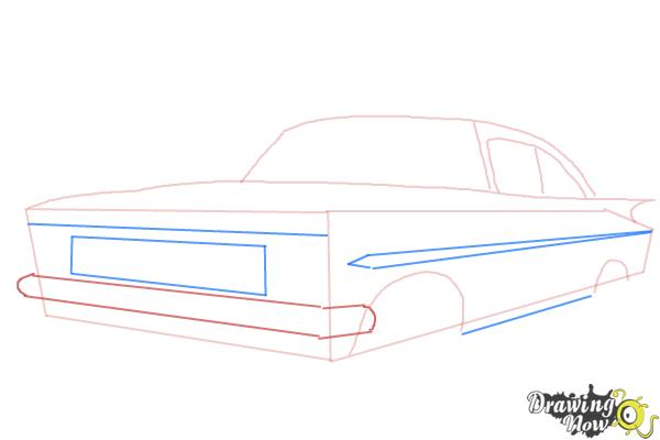 How to Draw a Chevrolet Impala - Step 4