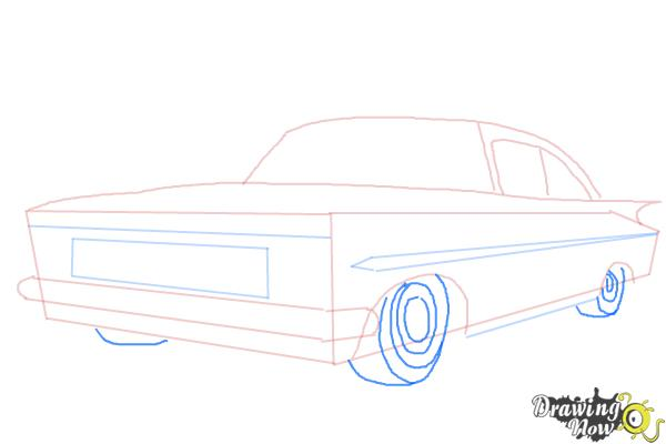 How to Draw a Chevrolet Impala - Step 5