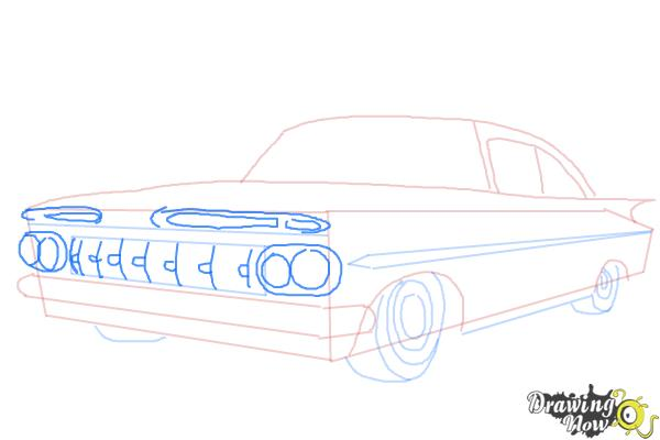 How to Draw a Chevrolet Impala - Step 6