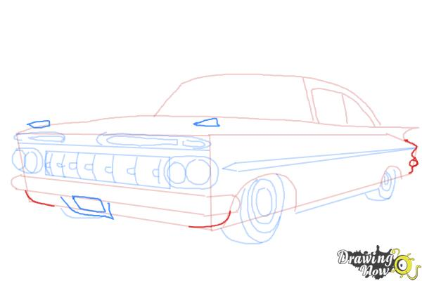 How to Draw a Chevrolet Impala - Step 7