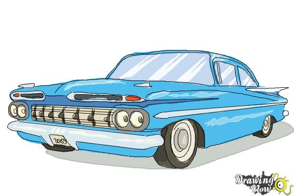 How to Draw a Chevrolet Impala - Step 9