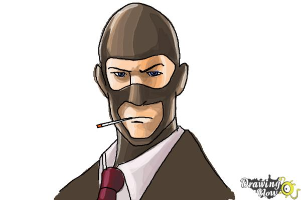 How To Draw The Spy From Team Fortress 2 Drawingnow