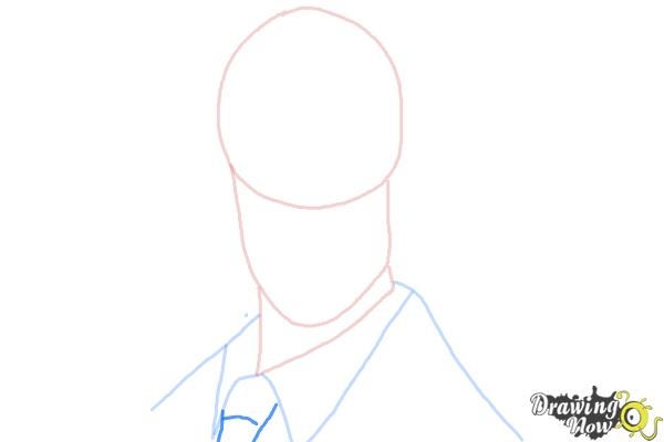 How to Draw The Spy from Team Fortress 2 - Step 4