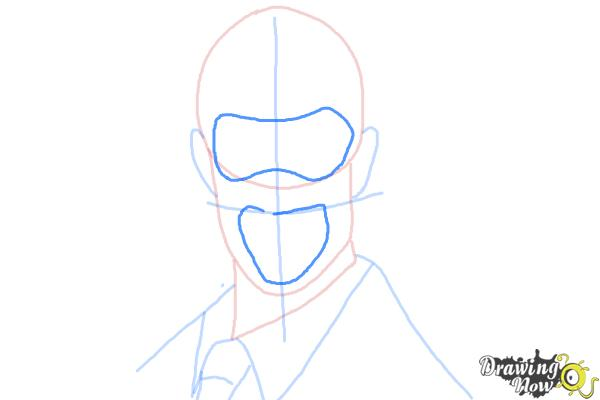 How to Draw The Spy from Team Fortress 2 - Step 6
