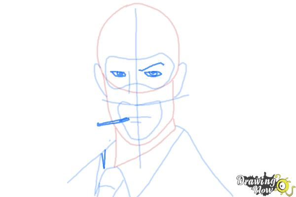 How to Draw The Spy from Team Fortress 2 - Step 8