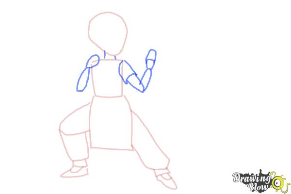 How to Draw a Manga Girl Fighting Pose - Step 3