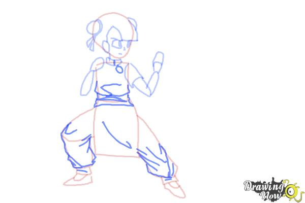 How to Draw a Manga Girl Fighting Pose - Step 6