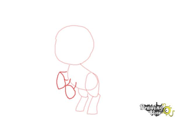 How to Draw Chibi Apple Jack from My Little Pony Friendship Is Magic - Step 4