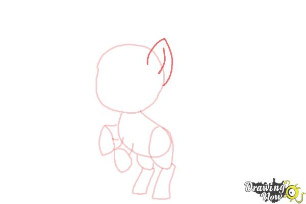How to Draw Chibi Apple Jack from My Little Pony Friendship Is Magic - Step 5