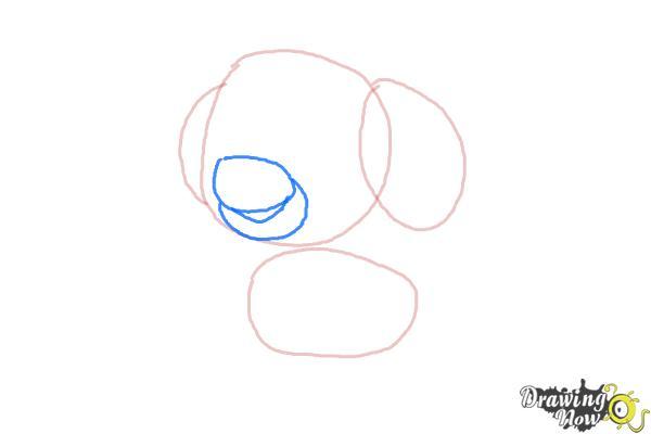 How to draw Skye from PAW Patrol - Step 3