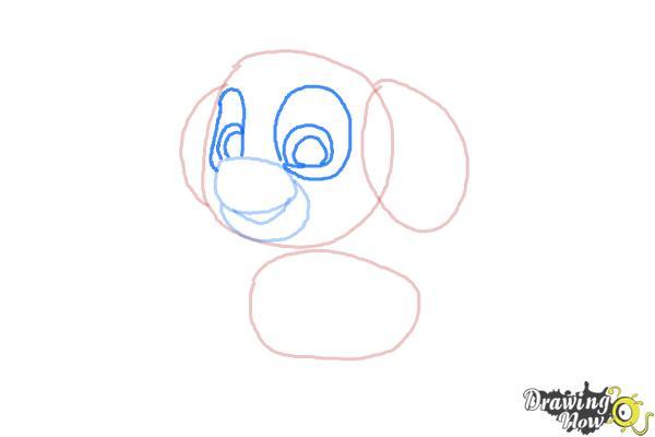 Beautiful How To Draw Skye From PAW Patrol   Step 4