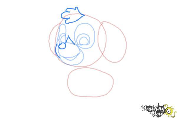 How to draw Skye from PAW Patrol - Step 5