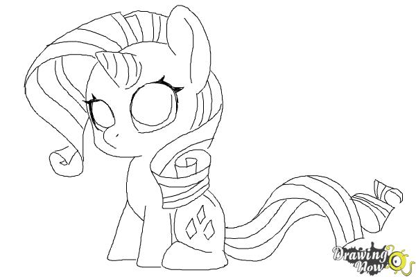 My Little Pony Anime Coloring Pages : How to draw chibi rarity from my little pony friendship is