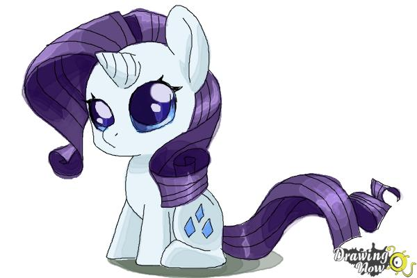 How to Draw Chibi Rarity from My Little Pony Friendship Is