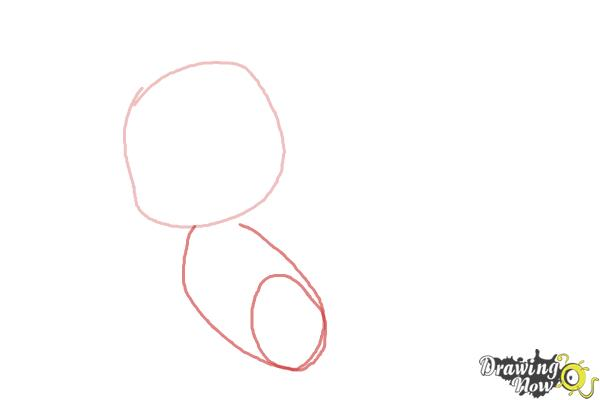 How to Draw Chibi Rarity from My Little Pony Friendship is Magic - Step 2